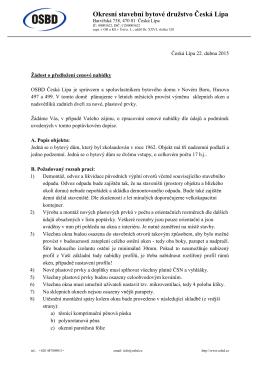 Hlavičkový papír s logem - Okresní stavební bytové družstvo Česká