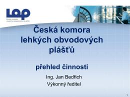 čklop - 8. národní konference České komory lehkých obvodových