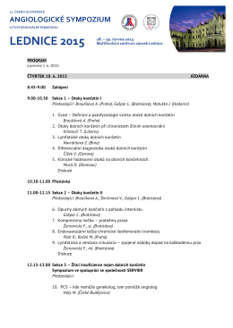 Page 1 PROGRAM (upravený 1. 6. 2015) ČTVRTEK 18. 6. 2015