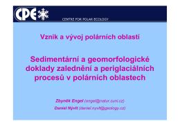 Glacifluviální sedimenty – proglaciální oblast
