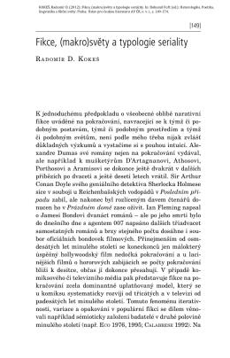 Fikce, (makro)světy a typologie seriality