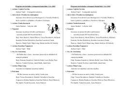 Program závěrečného vystoupení dramaťáků 11.6