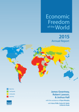 Economic Freedom of the World: 2015 Annual Report