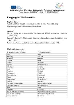 Language of Mathematics