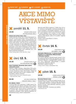 AKCE MIMO VÝSTAVIŠTĚ - Svět knihy Praha 2015