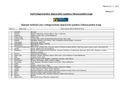 Tarif Integrovaného dopravního systému Olomouckého kraje