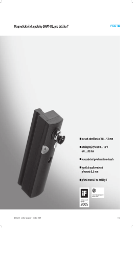 Magnetická čidla polohy SMAT-8E, pro drážku T