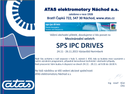 Pozvánka na SPS IPC DRIVES 2015