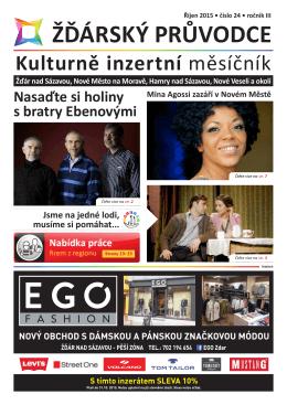 Říjen 2015 - Žďárský průvodce