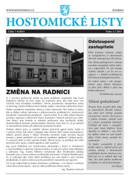 Hostomické listy č. 7-8/2015