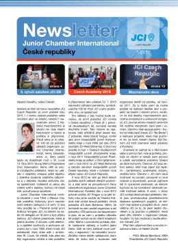 Newsletter 1/2015