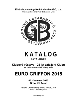 K ATALOG - euro griffon 2015