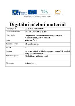 vy_32_inovace_b.2.04 - Integrovaná střední škola technická, Mělník
