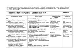 Předmět: Německý jazyk – Beste Freunde 1