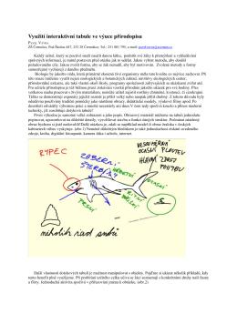 Využití interaktivní tabule ve výuce přírodopisu - su-ma