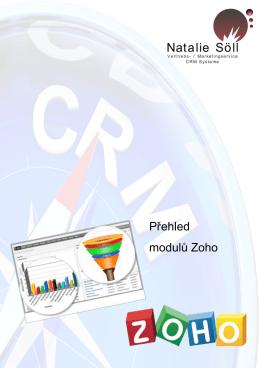 Přehled modulů Zoho
