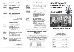 Kulturní kalendář čevenec