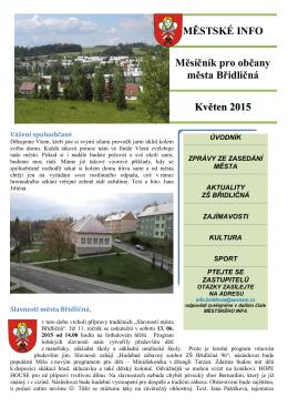 MĚSTSKÉ INFO Měsíčník pro občany města Břidličná Květen 2015