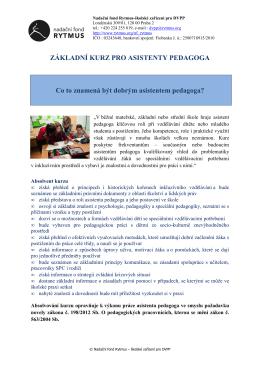 Základní kurz pro asistenty pedagoga