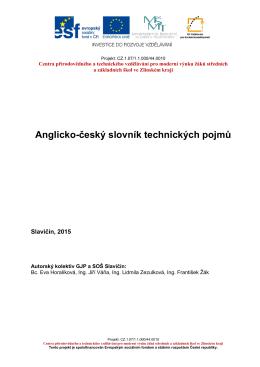 Anglicko-český slovník technických pojmů