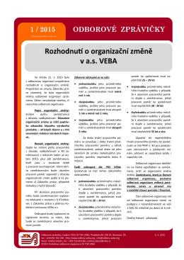 1 / 2015 - Odbory VEBA