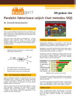 Paralelní faktorizace celých čísel metodou SIQS ID práce