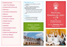Festival Kundalini jógy v ČR Festival Kundalini jógy v ČR