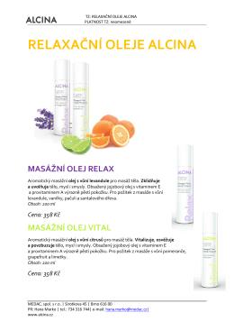 relaxační oleje alcina masážní olej relax