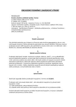 Obchodní podmínky zakázkové výroby platné od 1.7.2015