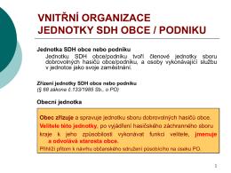 Vnitřní organizace jednotky SDH obce - Portál hasici