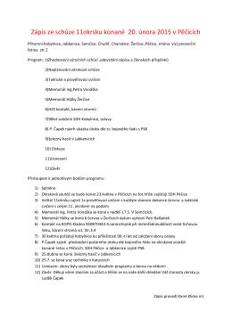 Zápis ze schůze 11okrsku konané 20. února 2015 v