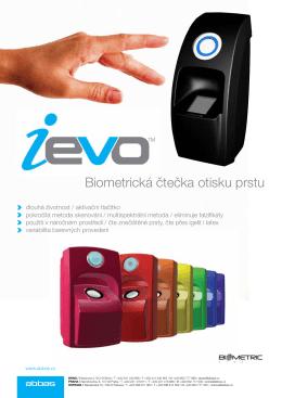 Biometrická čtečka otisku prstu