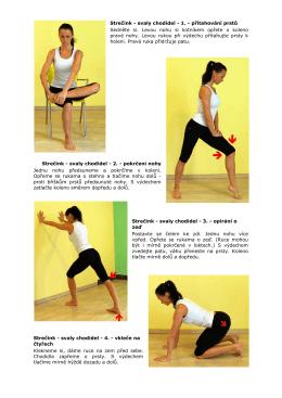 Strečink - svaly chodidel - 1. - přitahování prstů Sedněte si. Levou