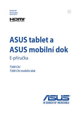 ASUS tablet a ASUS mobilní dok