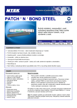 PATCH`N`BOND STEEL - 86025 - TDS - N-tek