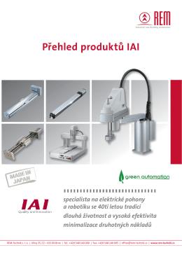 Přehled produktů IAI - REM
