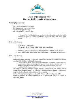 Operace 4.3.2 Lesnická infrastruktura