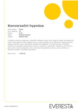 Konverzační hypnóza - E