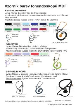 Vzorník barev fonendoskopů MDF