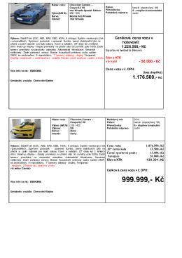 999.999,- Kč - Chevrolet