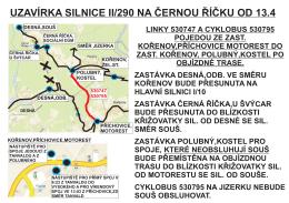 UZAVÍRKA SILNICE II/290 NA ČERNOU ŘÍČKU OD 13.4