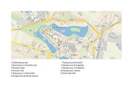 Telč - mapa restaurací