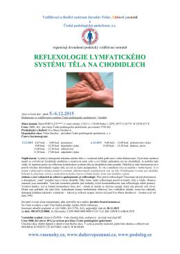 reflexologie lymfatického systému těla na chodidlech