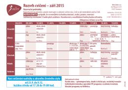Rozvrh cvičení – září 2015