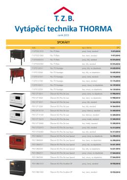 ceník Thorma - PechaSan spol. s ro