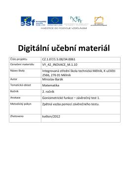 vy_42_inovace_m.1.10 - Integrovaná střední škola technická, Mělník