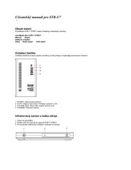 Užívatelský manuál pro STB-3
