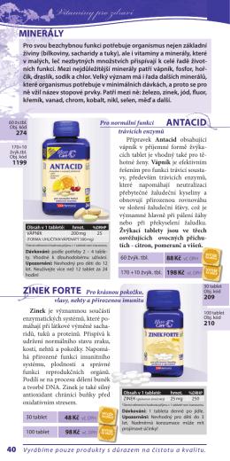 mineRáLY Zinek FoRte antaCiD