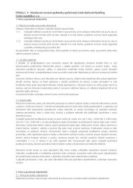 Příloha č. 4 - Všeobecné servisní podmínky společnosti Linde