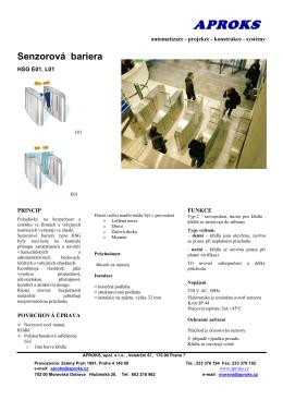 ILSenzorové bariery HSG